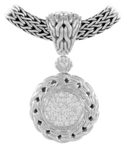 John Hardy Diamond Pave Small Circle Enhancer