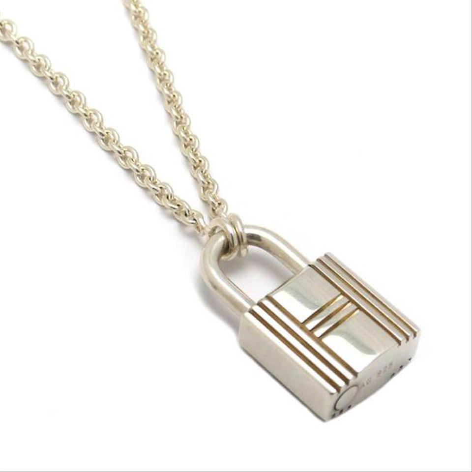 Herms silver sterling cadena pendant necklace tradesy herms authentic hermes sterling silver cadena pendant necklace aloadofball Gallery