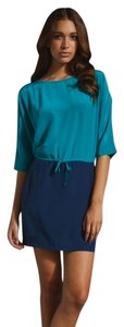 Twelfth St. by Cynthia Vincent short dress Blue Color Block Dolman Sleeve on Tradesy