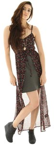 Black with Flower Print Maxi Dress by Volcom