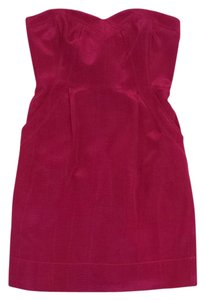 Rebecca Taylor short dress Fuchsia Strapless on Tradesy