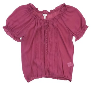Joie Rose Embroidered Silk Top