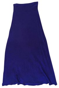 enough about me Maxi Skirt Blue