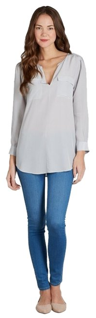 Joie Smoke Silk Tory Burch Tory Tunic Marlo Equipment Rachel Zoe Cc Splendid Bcbg Banana Top gray