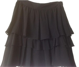 Zara Tiered Mini Skirt Black
