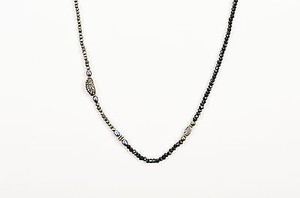 Blake Scott Blake Scott Black Crystal Pearl Diamond Beaded Long Single Strand Necklace