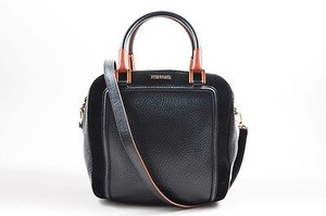 Missoni Orange Leather Satchel in Black
