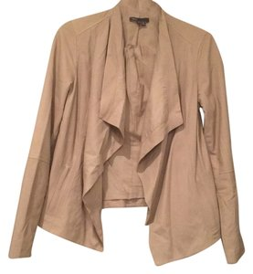 Vince Leather Trendy Spring Beige Leather Jacket