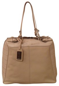 Badgley Mischka Crocodile-embossed Leather Bone-colored New Nib Tote in Beige