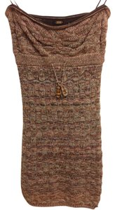 Guess short dress Multi colored Knit Fitted Strapless on Tradesy