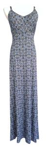 White, blues Maxi Dress by Other
