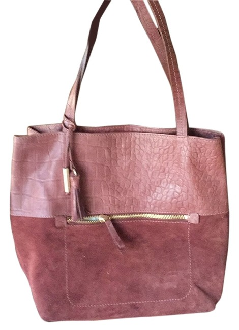 Item - Huntley Burgundy Leather/Suede Tote