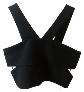 Topshop Crop Crop Top Black