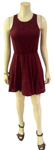 Cotton On short dress burgundy Size Small on Tradesy