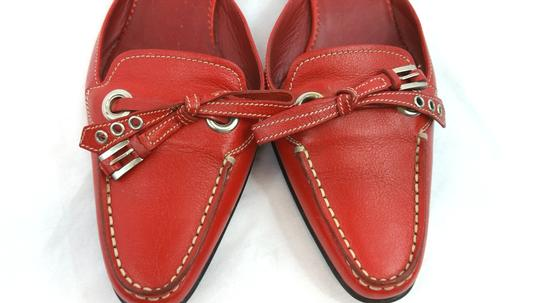 ea386e4d32da Prada Red Slip-on Leather Mules Slides Size US 7 Regular (M