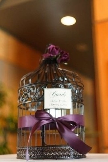 Preload https://item4.tradesy.com/images/black-and-eggplant-purple-birdcage-card-holder-reception-decoration-131938-0-0.jpg?width=440&height=440