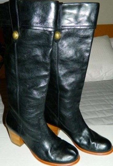 Coach Black with Gold Details Boots