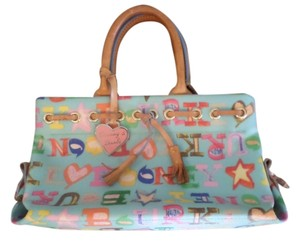 Dooney & Bourke Monogram Vintage Leather Satchel in Multi-color
