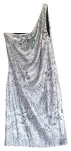 Studio Y short dress Sequined Snakeskin One Shoulder on Tradesy