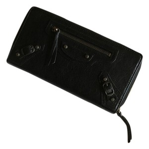 Balenciaga Balenciaga Classic Continental Zip Around Wallet Black