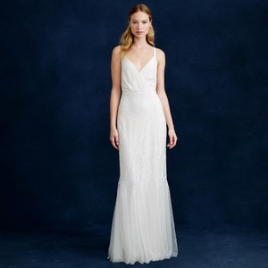 J.Crew Harper Beaded Mermaid Gown Wedding Dress