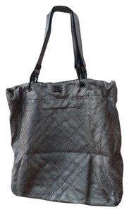 Burberry Leather Tote in Silver