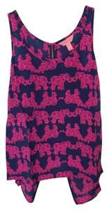 Lilly Pulitzer Elephants Pink Tank Top