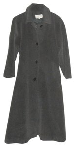 Bromley Wool Blend Flare Warm Winter Charcoal Trench Coat