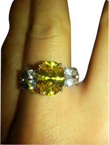 Other Gorgeous citrine and white topaz royal cocktail ring size 9o
