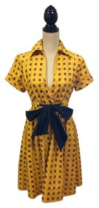 Diane von Furstenberg short dress Yellow & Pink on Tradesy