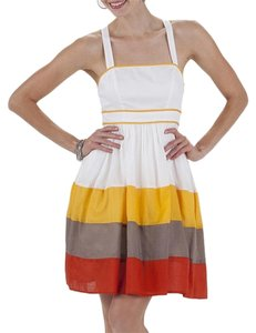 Jessica Simpson short dress Citrus White Sleeveless Flare on Tradesy