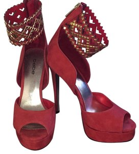 bebe Red-orange Platforms
