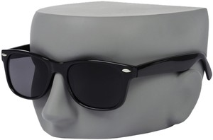 Black Plastic Frame Black Lenses Sunglasses Wayfarer like Ray Ban