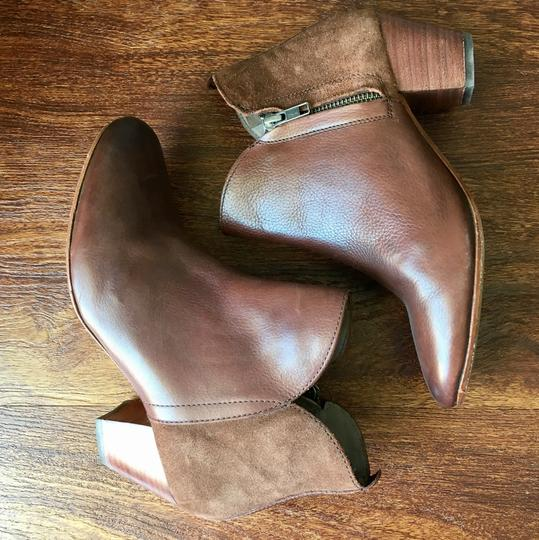 Anthropologie H By Hudson Suede Leather Brown Boots Image 4