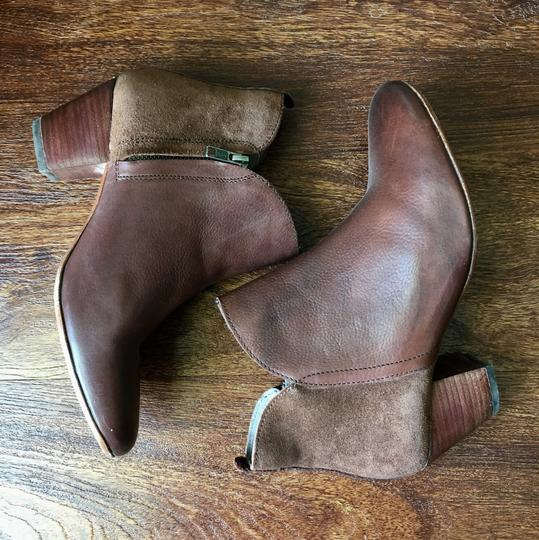 Anthropologie H By Hudson Suede Leather Brown Boots Image 5