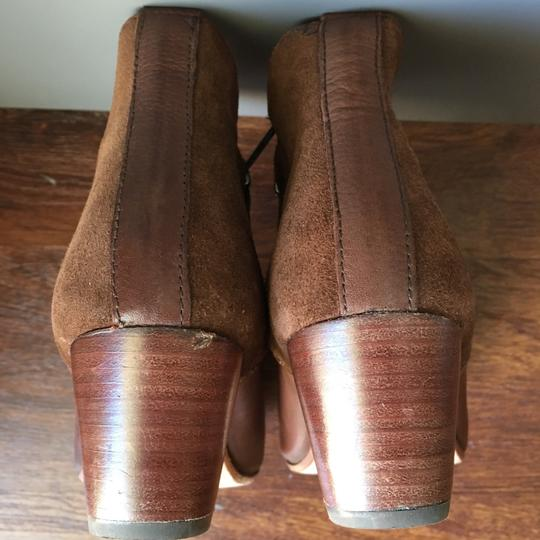 Anthropologie H By Hudson Suede Leather Brown Boots Image 8