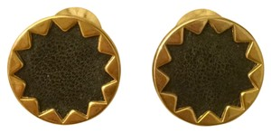House of Harlow 1960 Black And Gold Large Studs
