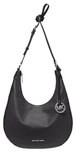 Michael Kors Next Day Shipping Micro-stud Medium Leather Shoulder Bag