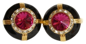 Swarovski Vintage SWAROVSKI Rivoli Rhinestone Runway Door Knocker Earrings