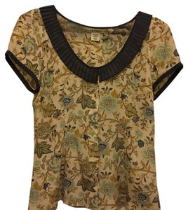 Anthropologie Top Floral Multi