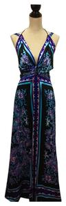 Multi color Maxi Dress by Rubber Ducky Productions, Inc.