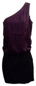 DKNY short dress purple and black on Tradesy