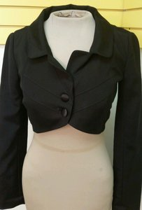 Temperley London New Alice Temperley Crop Victorian Orgiami Avant Garde Vintage Retro Black Jacket
