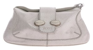 Tod's Textured Leather Wristlet Hobo Bag
