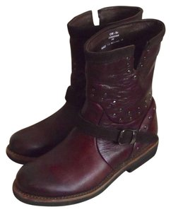 Blackstone Studded Pull On Buckle Strap Engineer Cordovan brown Boots