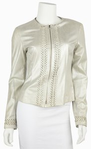 Armani Collezioni Metallic Leather Jacket