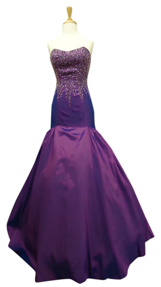 Maggie Sottero Blueberry 1928 Flirt Long Night Out Dress Size 12 (L ...
