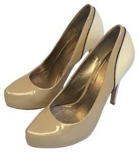 BCBGeneration Tan & Cream Pumps