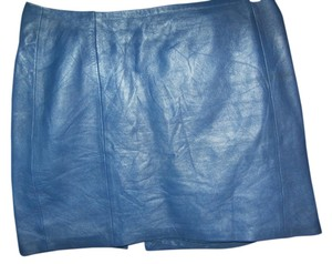 North Beach Leather Mini Skirt seafoam blue Leather