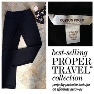 Boston Proper Travel Relaxed Wrinkle Free Relaxed Pants Black